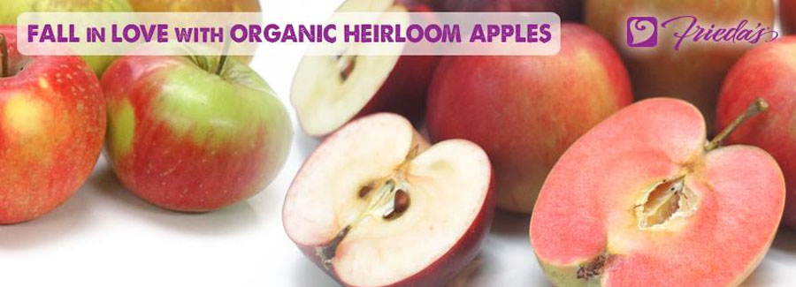 Frieda's Organic Heirloom Apples Now Available