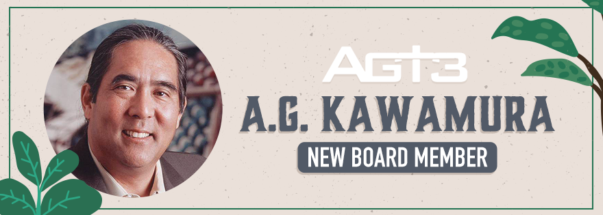 Agt3 Holdings Appoints A.G. Kawamura to its Board of Directors