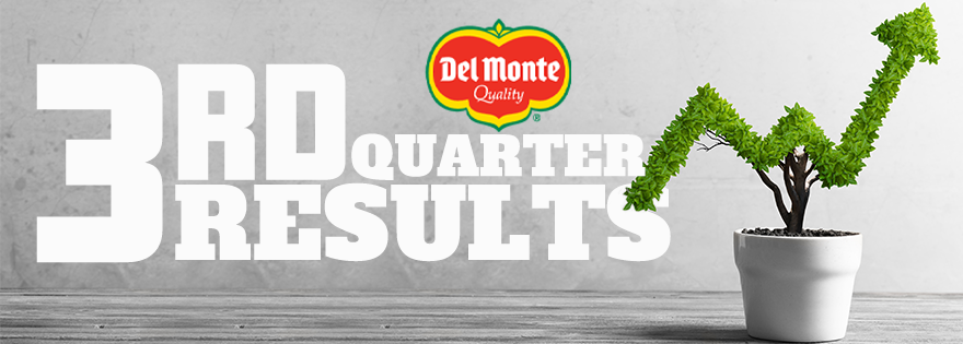 Fresh Del Monte Reports Third Quarter 2020 Financial Results; Announces the Sale of Assets