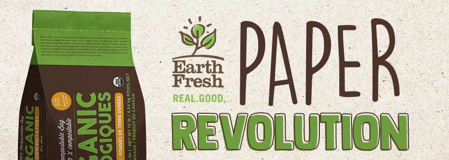 EarthFresh Foods' Potatoes Packed in 100 Percent Compostable Paper Bags