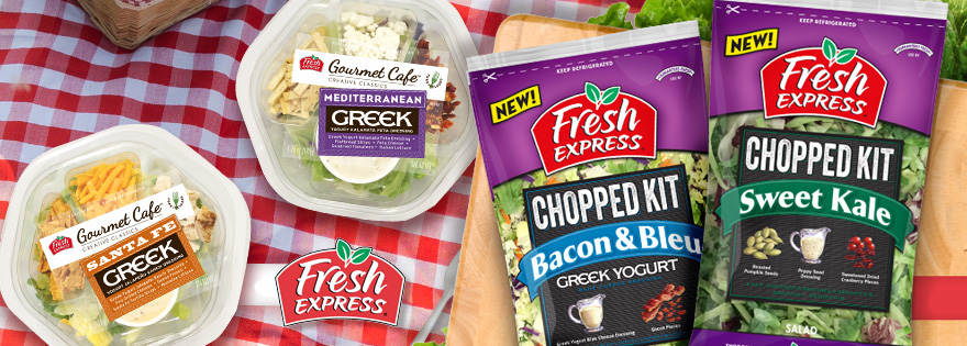 Fresh Express Introduces New Chopped and Gourmet Cafe Kits