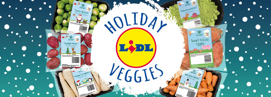 Lidl Launches Tiny Holiday Themed Veggie Line With Kids In Mind