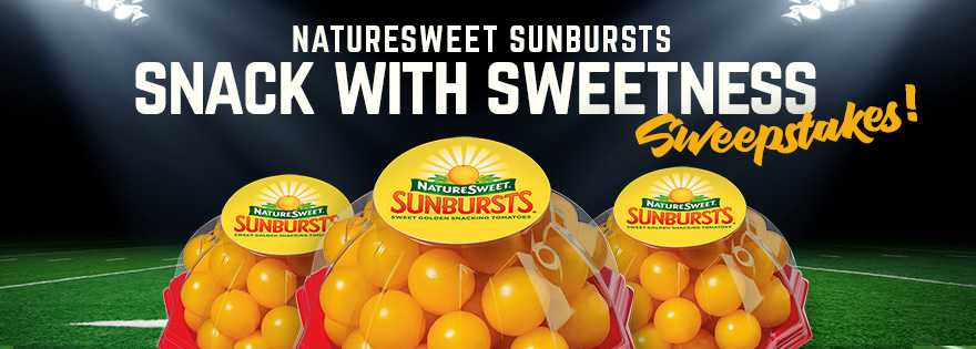 NatureSweet® SunBursts® Bring Sweetness to Game Day Spreads, Chances to Win Big with 'Snack with Sweetness Sweepstakes'