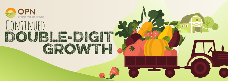 Organic Fresh Produce Sales Continue With Double Digit Growth in Quarter Three