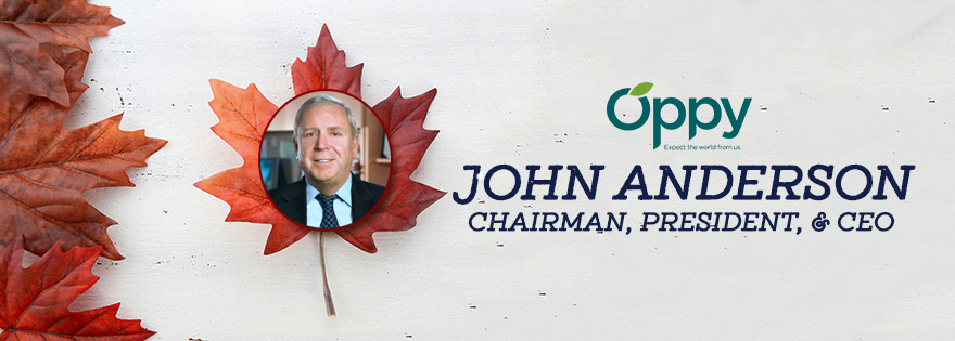Oppy Chairman, President, and CEO John Anderson Accepts Canada's Most Admired Honors