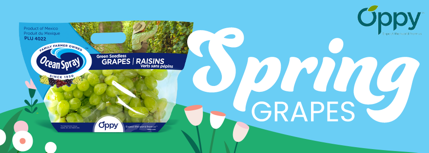 Oppy Harnesses Ocean Spray® Brand Power to Bring Outstanding Spring Grapes to Market