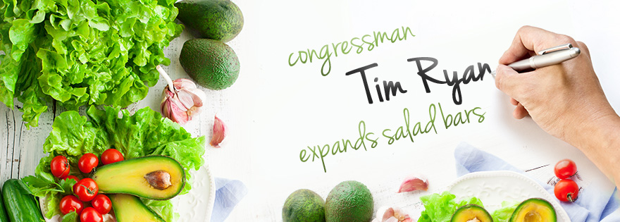 Congressman Tim Ryan Introduces Salad Bar Expansion Bill for Schools