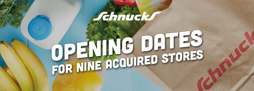 Schnucks Markets Announces Updates on Nine Acquired Stores for Opening Dates and Hours of Operations