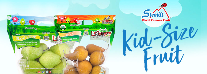 Stemilt Growers Offers Lil Snappers® Kid-Size Fruit to Boost Pear Sales