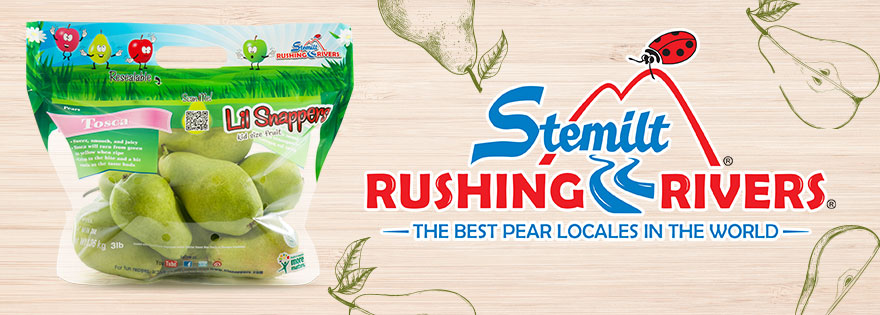 Stemilt Growers Helps Retailers Make Sales Great with Rushing Rivers® Pears