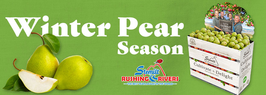 Stemilt Growers Readies Its Rushing Rivers® Pear Retail Program