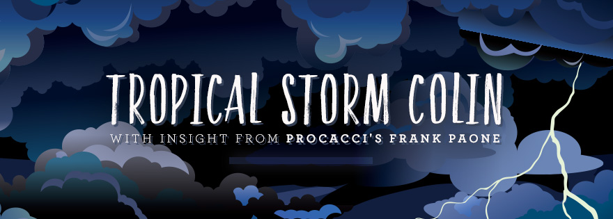 Updates on Tropical Storm Colin with Insight from Procacci's Frank Paone