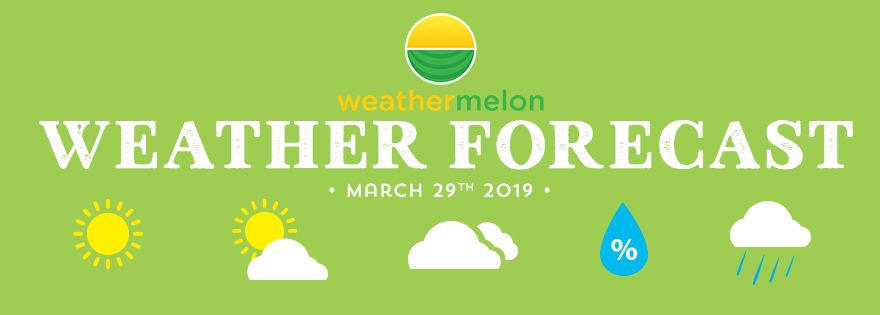Weathermelon Weather Report - March 29, 2019
