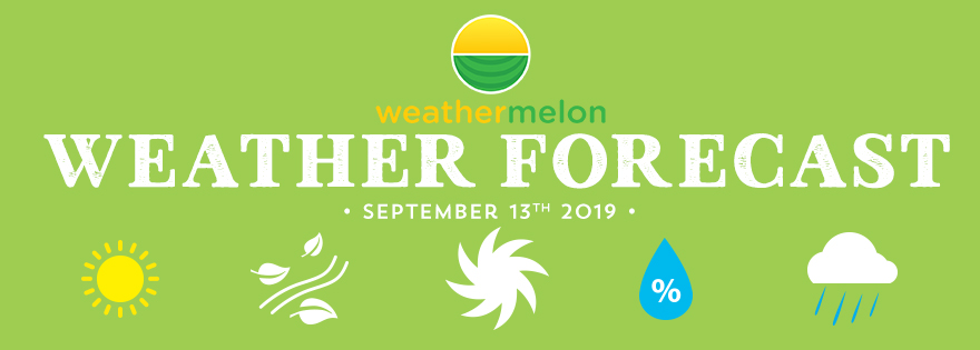 Weathermelon Weather Report - September 13, 2019