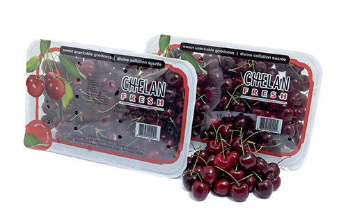 Chelan Fresh is providing consumers with a top seal packaging option for its dark red cherries
