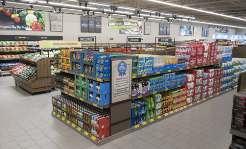 The Aldi store updates will include more modern designs, natural lighting, and eco-friendly materials