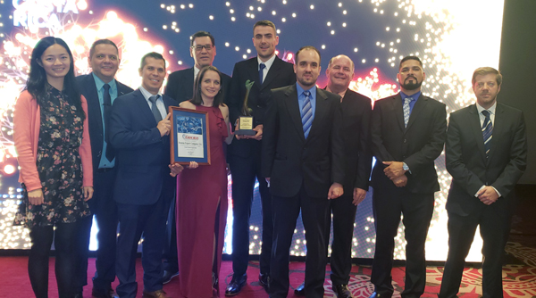Pictured: The Fyffes team accepting the Exporter Grand Award, given to its pineapple exporter, Anexco