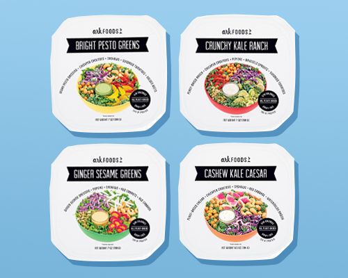 Ark Foods debuted a new line of packaged salads, the Clean Label Salad line