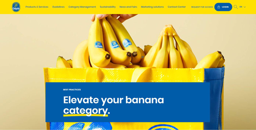 The site offers a restricted access section that requires a login for specific stakeholders seeking out sensitive information such as Chiquita's online training certification