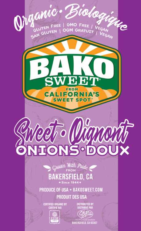 Bako Sweet's new organic sweet onion label