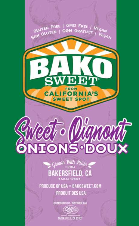 Bako Sweet's new conventional sweet onion label