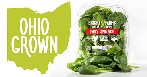 BrightFarms' Ohio Grown Baby Spinach