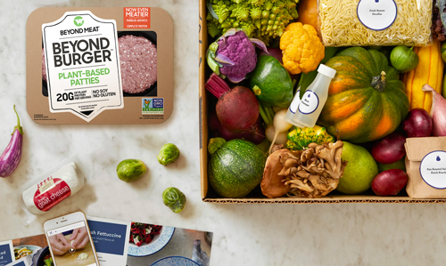 Blue Apron saw its stock price surge by 53 percent per share after closing a deal with Beyond Meat®