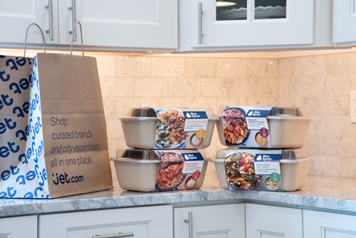 Millions of households across most of New York City, as well as Jersey City and Hoboken, can access Blue Apron through same-day or next-day delivery via Jet's City Grocery offering