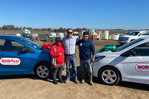 Bobalu Berry Farms recently held an event to mark the official end of the 2020 fresh strawberry season in Santa Maria, complete with a raffle that gifted two loyal employees with new cars