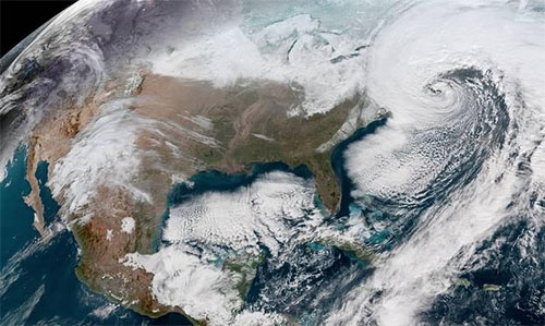 NOAA image of East Coast Storm