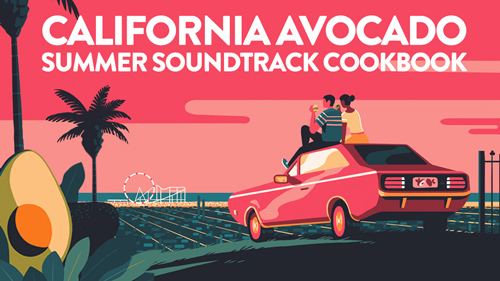 The California Avocado Commission has put together a digital cookbook and soundtrack to accompany its recipes
