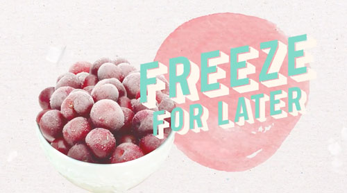 Try cherries frozen, prolonging summer sweetness through the later half of the year