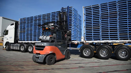 CHEP offers 100 million pallets and operates 450 service centers across North America