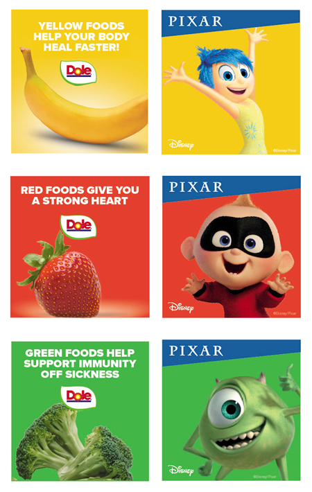 "Calling upon the everyday triumphs of Pixar characters, Dole is encouraging North Americans to make their own ""healthy-at-home"" success stories with character-inspired recipes, family-friendly activities, digital downloads, fun social activations, and nutritional tips"