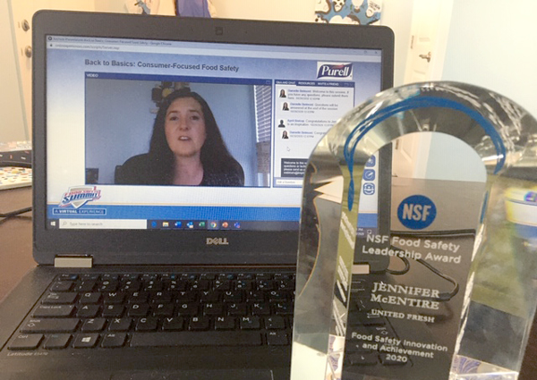 NSF International has announced that United Fresh Produce Association's Dr. Jennifer McEntire, Senior Vice President of Food Safety and Technology, has been awarded with this year's Food Safety Leadership Award