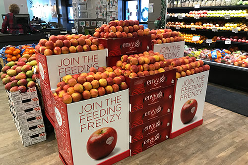 Oppy noted that the Envy™ apple has seen explosive growth since it entered produce markets