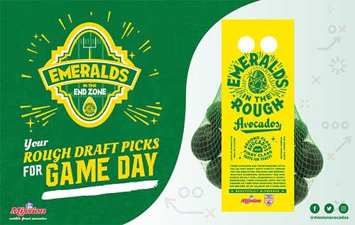 Mission Produce's Emeralds in the End Zone Campaign creates endless opportunities for retailers to increase their bottom lines during the peak of football season