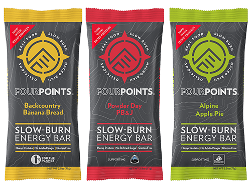 Fourpoints is featuring prunes in its energy bars, highlighting the fruit's naturally sweet taste and exceptional nutritional profile