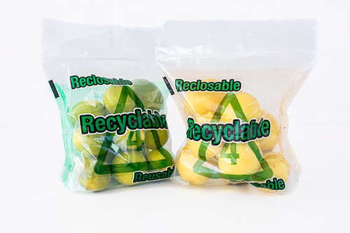 The bags are compatible with existing polyethylene recycle streams