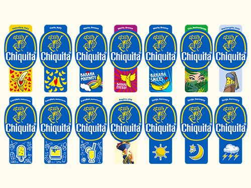"Chiquita's ""Fuel the Fun"" program allowed fans to submit fun and creative designs for a unique Chiquita banana sticker"