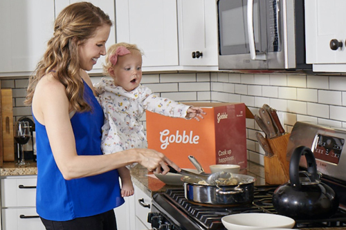 Gobble focuses on busy parents, taking all the prep work out of meals so dinner can be ready in just 15 minutes