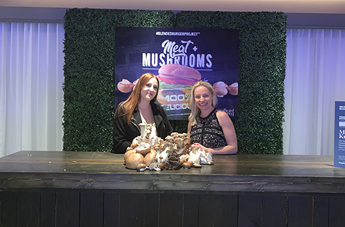The Mushroom Council® was also in attendance at the Raising the Bar event, highlighting mushrooms' versatility on the plate