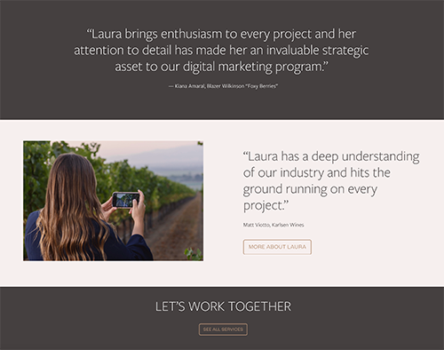 Having extensive knowledge of the industry, Laura Hastie has unveiled a new website for her consulting business