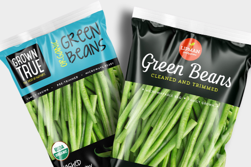 Available in a high-graphic microwavable bag to eliminate prep time, Lipman Family Farms' fresh-cut green beans are clipped and cleaned to provide a dependable, ready-to-enjoy product