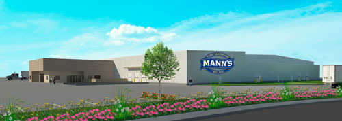 Artist's rendering of Mann Packing's new facility