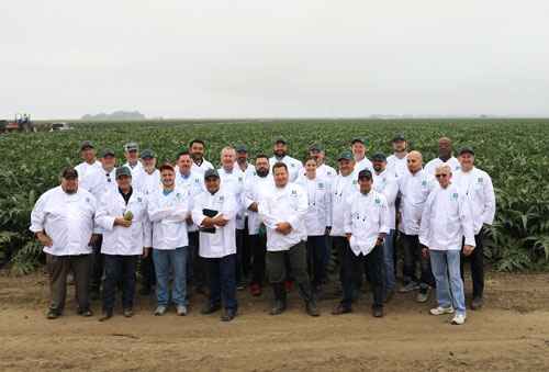 Markon Chef Summit 2017 group shot in artichoke field