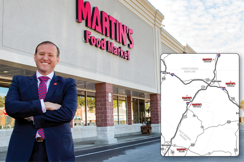 The stores will undergo a one-week conversion, opening again as MARTIN'S Food Markets on April 5