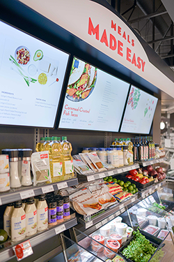 Each store will feature a kiosk area that will merchandise fresh ingredients according to a specific meal