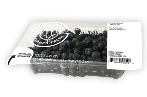 Naturipe Farms' Blueberries - Thoroughly Washed Peel and Reseal Pack