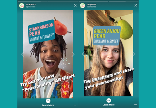 USA Pears has officially launched a brand-new augmented reality (AR) tool on the Instagram social media platform